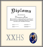 Silver High School Diploma and Photo Frame