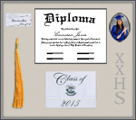 High School Diploma Frame - Silver Shadow Box