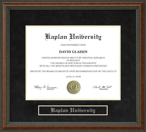 Kaplan University Diploma Frame Wordyisms