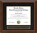 North Iowa Area Community College Mahogany Diploma Frame