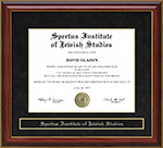 Spertus Institute of Jewish Studies Mahogany Diploma Frame