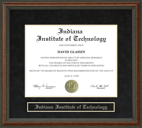 Indiana Institute Of Technology Indiana Tech Diploma