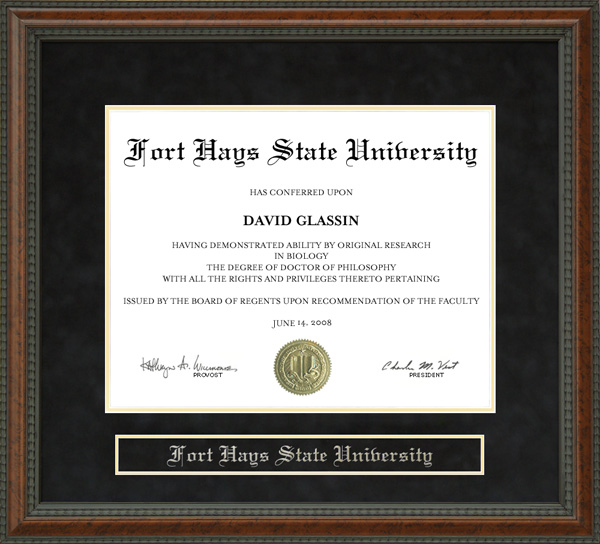 Fort Hays State University Fhsu Diploma Frame Wordyisms