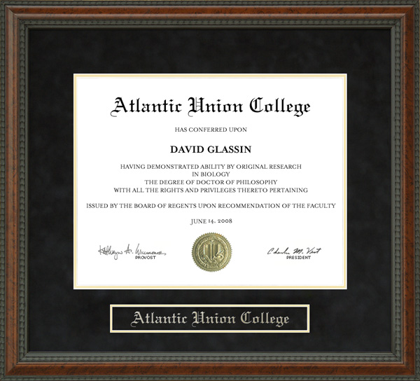 Atlantic Union College Auc Diploma Frame Wordyisms