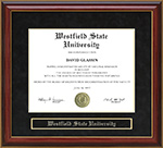 Westfield State University Mahogany Diploma Frame