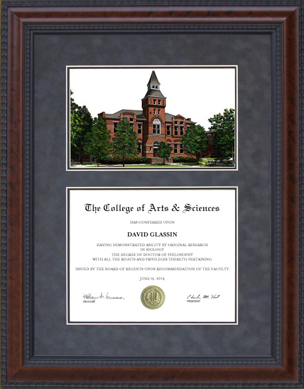 diploma frame with michigan state university msu linton hall lithograph - Michigan State Diploma Frame