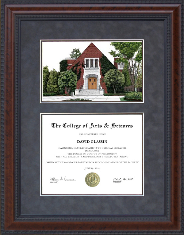 diploma frame with michigan state university alumni chapel lithograph - Michigan State Diploma Frame