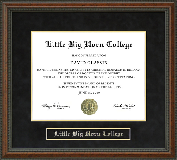 Little Big Horn College (LBHC) Diploma Frame: Wordyisms