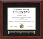 Davidson County Community College Mahogany Diploma Frame