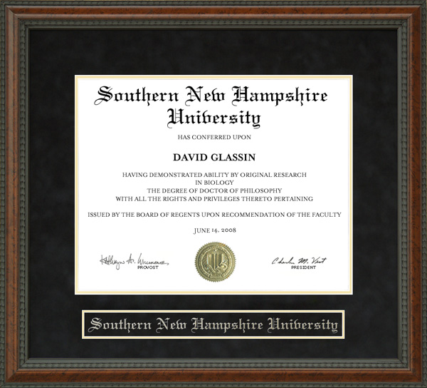 Southern New Hampshire University Snhu Diploma Frame