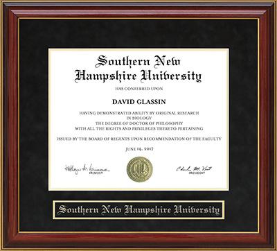 Southern New Hampshire University Snhu Mahogany Diploma