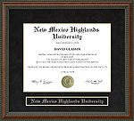New Mexico Highlands University (NMHU) Diploma Frame