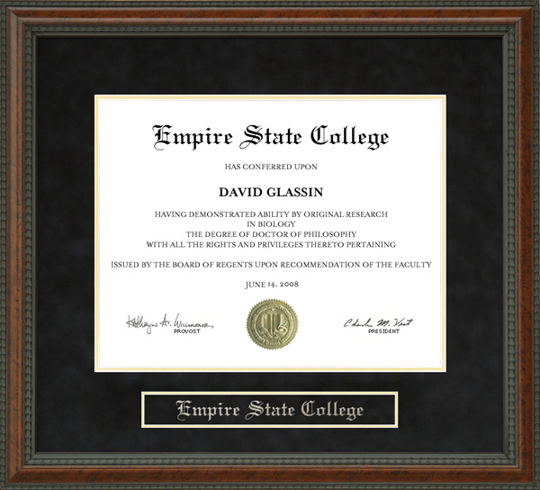 Empire State College Suny Diploma Frame Wordyisms