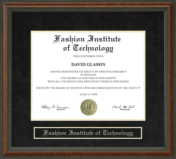 Fashion Institute Of Technology Fit Diploma Frame Wordyisms