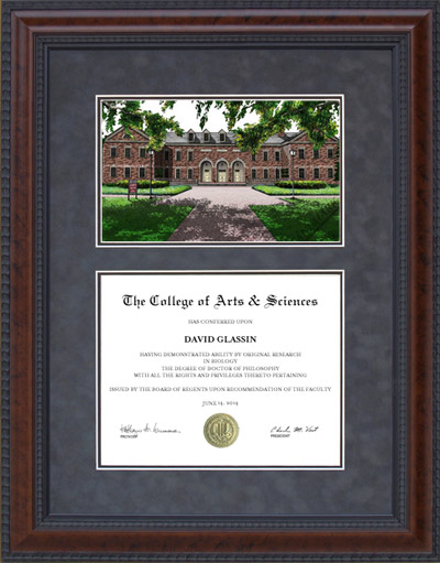 Diploma Frame With Old Dominion University Odu Campus