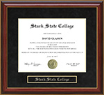 Stark State College Mahogany Diploma Frame