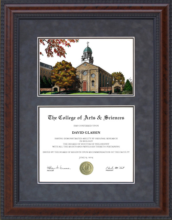 Diploma Frame With Licensed University Of Dayton Campus
