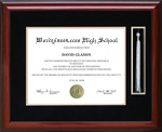Diploma Frame with Tassel Display