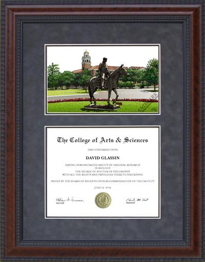 TCU Texas Christian Mahogany Diploma Frame amp Lithograph