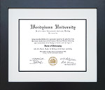 Tribeca Executive Diploma Frame with Genuine Linen Matting