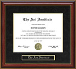 The Art Institute Mahogany Diploma Frame