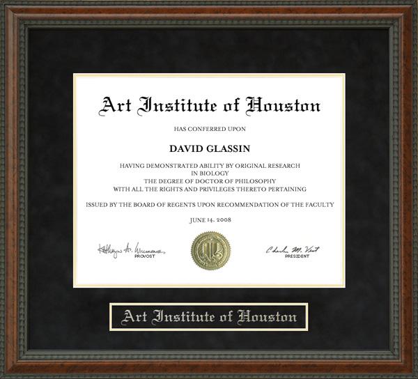 Art Institute Of Houston Diploma Frame Wordyisms
