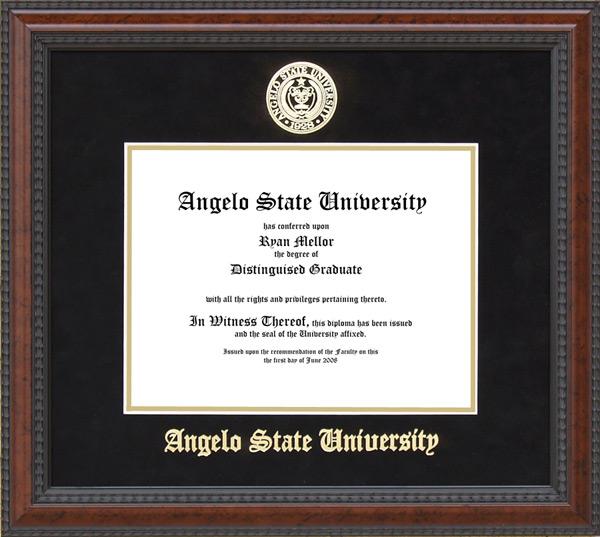 angelo state university diploma frame school seal wordyisms angelo state university diploma frame school seal