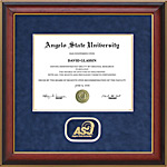 Angelo Diploma Frame with Embossed ASU Logo