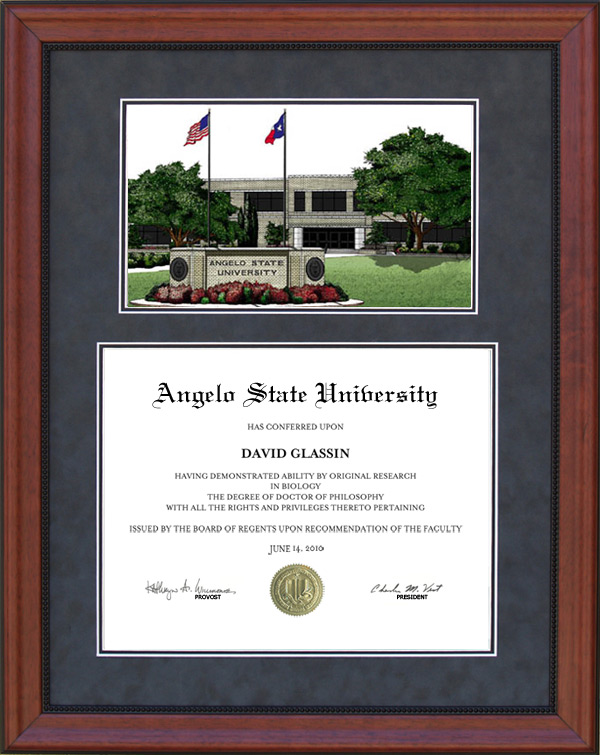 Angelo State University Diploma Frames & Graduation Products: Wordyisms