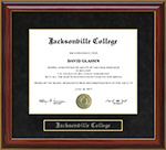 Jacksonville College Mahogany Diploma Frame