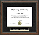 McMurry University Diploma Frame