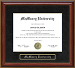 McMurry University Mahogany Diploma Frame
