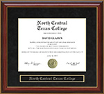 North Central Texas College (NCTC) Mahogany Diploma Frame