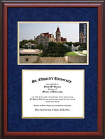 St. Edward's University Diploma Frame with Campus Image