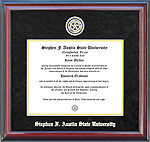 Stephen F. Austin Diploma Frame with Black Suede Mat