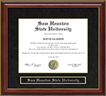 Sam Houston State University (SHSU) Mahogany Diploma Frame