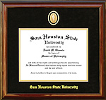 Sam Houston Graduation Frame with Custom Medallion