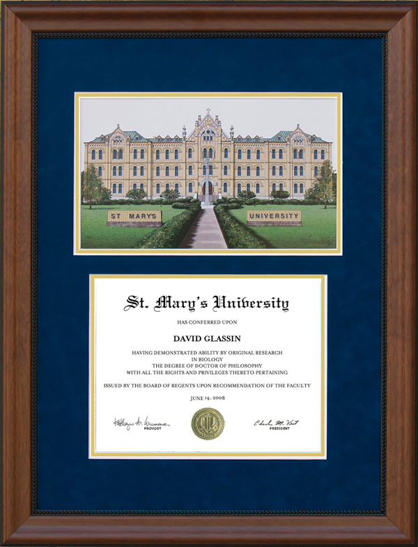 St Mary S University Ascot Diploma Frame With Campus