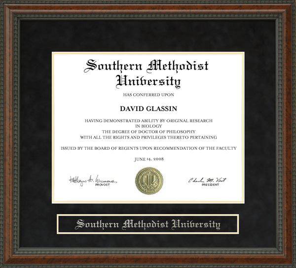 Southern Methodist University Smu Diploma Frame Wordyisms