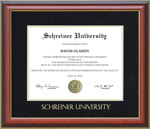 Schreiner University Diploma Frame with Embossed Suede Mat