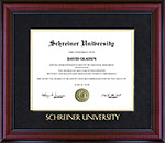 Schreiner University Braided Diploma Frame