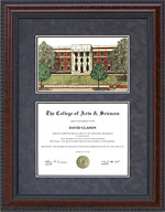 Sul Ross State University (SRSU) Diploma Frame with Campus Lithograph