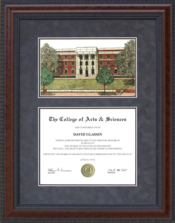 Sul Ross State University Srsu Diploma Frame With Campus