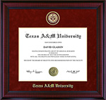 Texas A&M Embossed Designer Diploma Frame