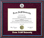 Texas A&M University (TAMU) School Seal Frame