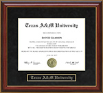 Texas A&M University (TAMU) Mahogany Diploma Frame
