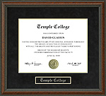 Temple College Diploma Frame