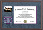 Tarleton State University Diploma Frame with Bevel Cut Logo
