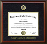 Tarleton State Diploma Frame with Embossed Suede Mat