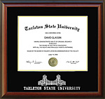 Tarleton Diploma Frame with Etched Gates